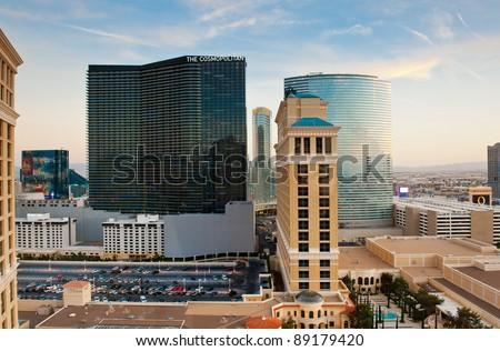 LAS VEGAS, NEVADA, USA - CIRCA APRIL 2011: Luxury hotel Cosmopolitan. The Cosmopolitan is a luxury resort located on the Las Vegas Strip opened on December 15, 2010 - stock photo