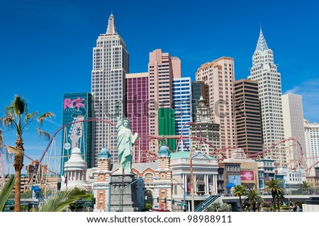 LAS VEGAS, NEVADA, USA - CIRCA APRIL 2011: New York - New York Hotel & Casino