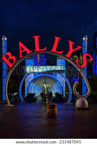 LAS VEGAS, NEVADA, USA - May 31, 2009: The entrance to Las Vegas monorail at Bally's Las Vegas in Las Vegas, Nevada. Bally's is located on the Strip and has over 2,800 rooms available for guests. - stock photo