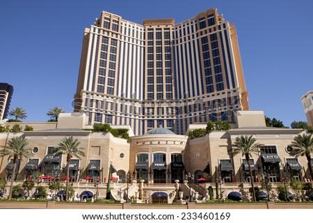 Las Vegas, Nevada, USA - September 22, 2014: Palazzo luxury resort and casino on the Las Vegas Blvd, as seen from the famous Strip in Las Vegas, Nevada, USA on September 22, 2014 - stock photo