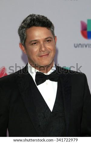 LAS VEGAS - NOV 19:  Alejandro Sanz at the 16th Latin GRAMMY Awards at the MGM Grand Garden Arena on November 19, 2015 in Las Vegas, NV - stock photo