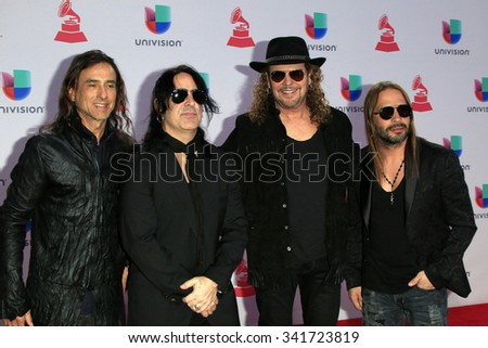 LAS VEGAS - NOV 19:  Mana at the 16th Latin GRAMMY Awards at the MGM Grand Garden Arena on November 19, 2015 in Las Vegas, NV - stock photo