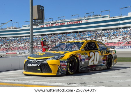 LAS VEGAS, NV - March 07: Matt Kenseth at the NASCAR Sprint Kobalt 400 practice at Las Vegas Motor Speedway in Las Vegas on March 07, 2015 - stock photo