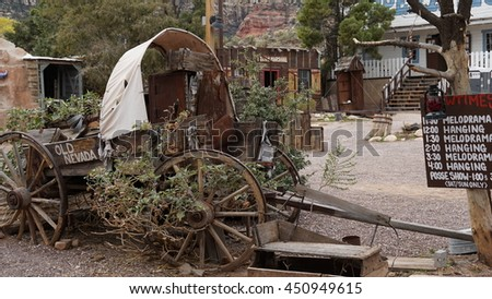 LAS VEGAS, NV - OCT 25: Bonnie Springs Ranch in Las Vegas, Nevada, as seen on Oct 25, 2015. It is a western-themed amusement park near Blue Diamond, in Clark County.