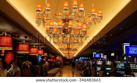 LAS VEGAS, NV - OCT 27: The Cromwell Las Vegas in Nevada, as seen on Oct 27, 2015. t was built as the Barbary Coast Hotel & Casino and was later known as Bill's Gamblin' Hall and Saloon. - stock photo