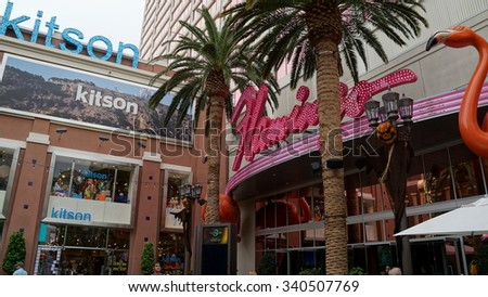 LAS VEGAS, NV - OCT 28: The famous Flamingo Hotel and Casino in Las Vegas, as seen on Oct 28, 2015. It was the third resort to open on the Strip & the oldest resort on the Strip still in operation.