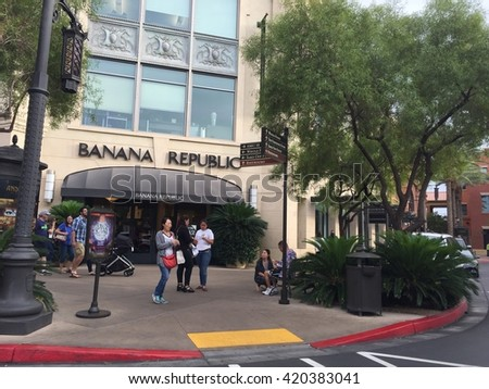 LAS VEGAS, NV - OCT 25: Town Square Las Vegas, as seen on Oct 25, 2015. It is an upscale, open air shopping, dining, office, and entertainment center development on 93 acres. - stock photo