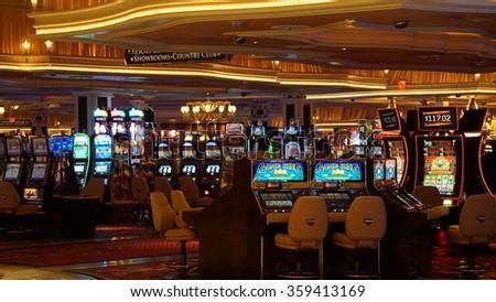 LAS VEGAS, NV - OCT 27: Wynn Las Vegas and Encore in Las Vegas, as seen on Oct 27, 2015. The US$2.7-billion resort is named after casino developer Steve Wynn. - stock photo