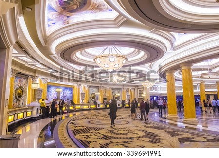 LAS VEGAS - OCT 15 : The Ceasars Palace interior on October 15, 2015 in Las Vegas. Caesars Palace is a luxury hotel and casino located on the Las Vegas Strip. Caesars has 3,348 rooms in five towers