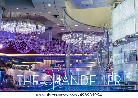 Las vegas oct 05 chandelier bar stock photo edit now shutterstock las vegas oct 05 the chandelier bar at the cosmopolitan hotel casino in mozeypictures Choice Image
