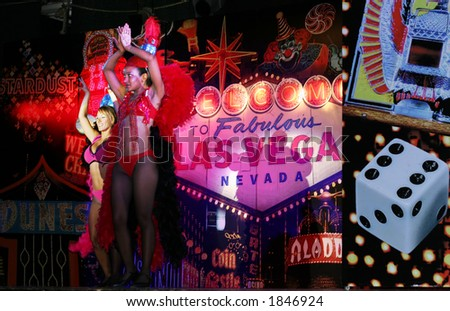Las Vegas Show Stage - stock photo