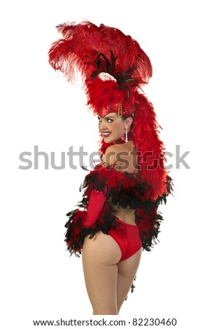 Las Vegas Showgirl - stock photo