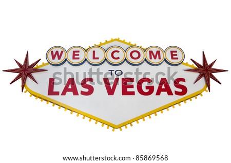 Las Vegas Sign Isolated on White - stock photo