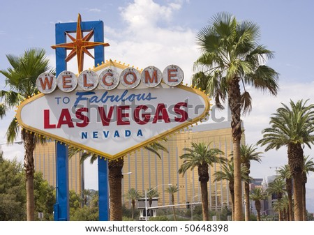 Las Vegas sign, Nevada - stock photo
