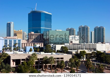 Las Vegas Skyline - stock photo