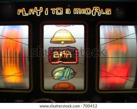 Las Vegas Slot Machine - stock photo