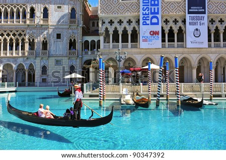LAS VEGAS, US - OCTOBER 12: The Venetian Resort Hotel Casino on October 123, 2011 in Vegas, US. The luxury resort has a five-diamond hotel with 4,049 suites and 4,059 hotel rooms