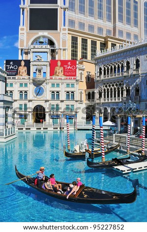LAS VEGAS, US - OCTOBER 12: The Venetian Resort Hotel Casino on October 12, 2011 in Vegas, US. The luxury resort has a five-diamond hotel with 4,049 suites and 4,059 hotel rooms