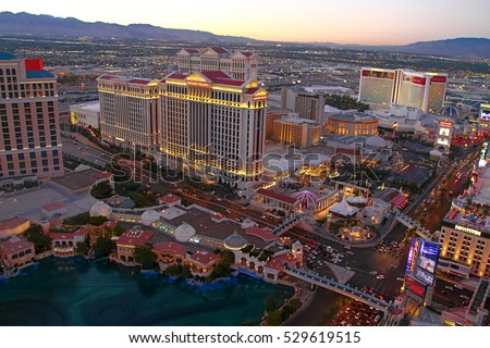 LAS VEGAS, USA - Oct 30: Before Fountain show at Bellagio hotel and casino on Oct 30, 2014 in Las Vegas, USA. Las Vegas is one of the top tourist destinations in the world.