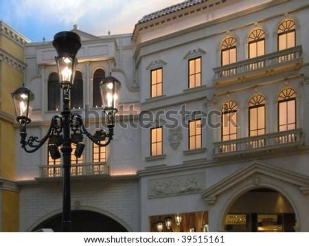 Las Vegas Venetian Hotel - interior - stock photo
