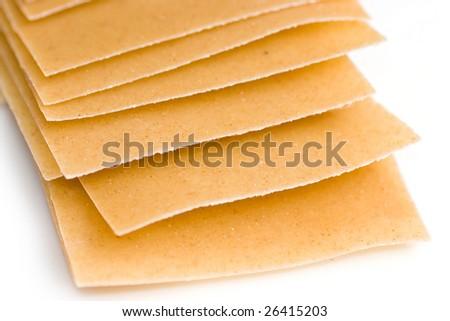 Lasagna plates - stock photo