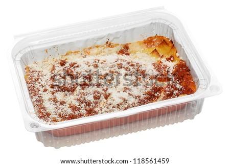 Lasagne takeaways - stock photo
