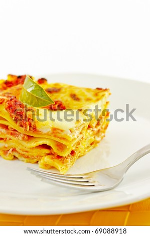 Lasagne, typical italian dish