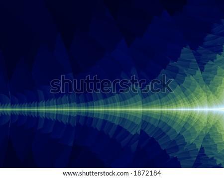Laser Beam - Illustration - stock photo