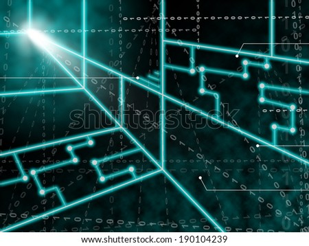Laser Circuit Background Meaning Light Beams Or Shining Lasers