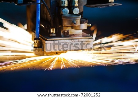 Laser close-up - stock photo