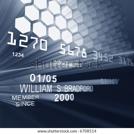 Laser Credit Card - stock photo
