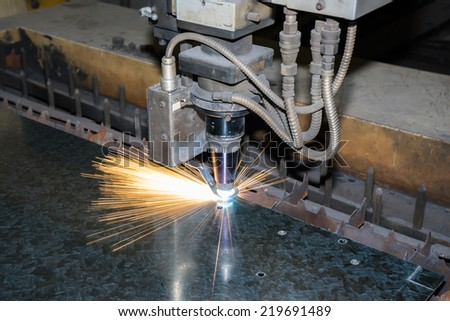 Laser Cutting - stock photo