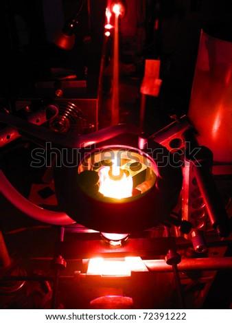 laser exposure - stock photo