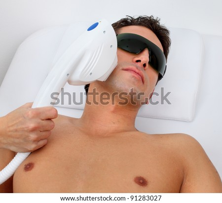 laser hair removal - stock photo