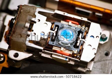 laser lens of dvd - stock photo