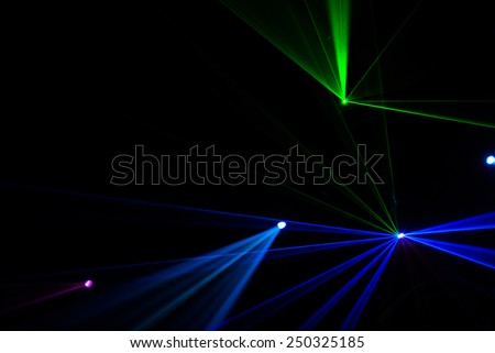 Laser light in dark night