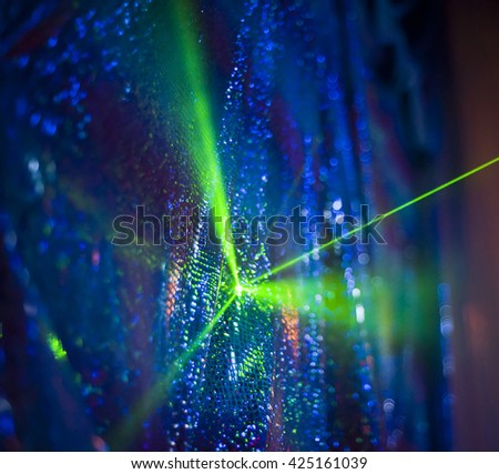 laser light in disco club