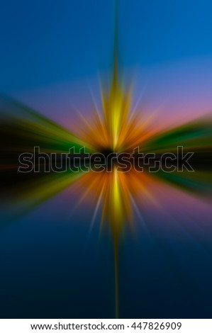 Laser light reflecting water