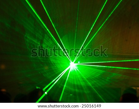 laser lights in the night club - stock photo
