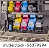 laser printer cartridges - stock photo