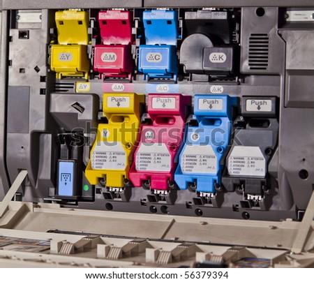 laser printer cartridges - stock photo