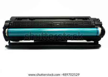 Laser printer cartridges isolated white background