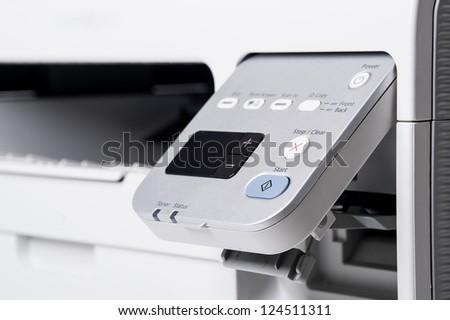 Laser printer detail. - stock photo