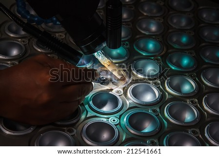 Laser welding - stock photo