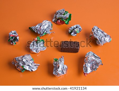 Last chocolate - stock photo