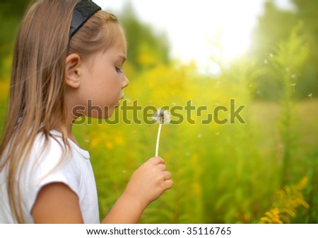 Last dandelion in this year - stock photo