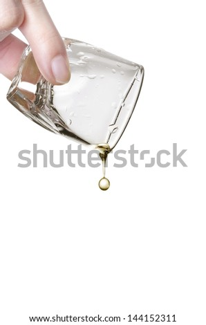 last drop of whiskey, quit alcohol, isolated on white background