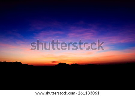 Last light at sunset - stock photo