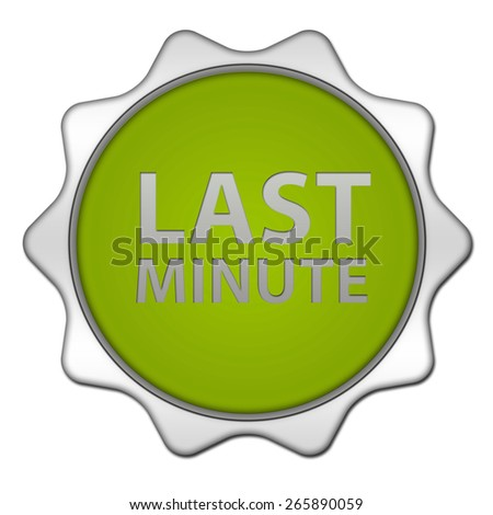 Last minute circular icon on white background