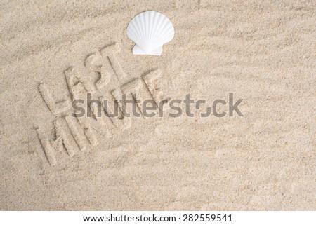 Last minute holiday vacation - stock photo